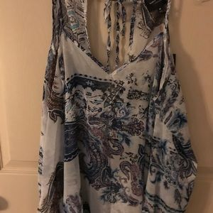 Romeo&Juliet Couture Printed Cold Shoulder Top